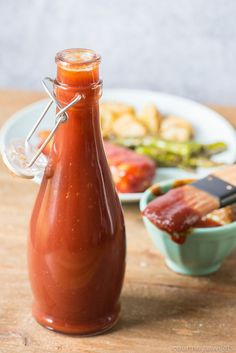 OurHomemade BBQ Sauce recipe is perfect for all of your favorite bbq recipes! Learn how to make bbq sauce with ingredients you likely already have at home! #bbq #bbqsauce #sauce #homemade