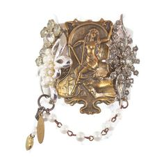 Goddess Cuff Bracelet   Vintage Assemblage by InVintageHeaven, $68.00