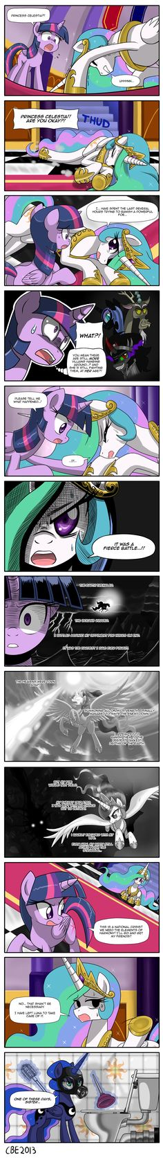 Princess Celestia's battle by CrimsonBugEye on deviantART