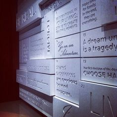 really cool donor wall