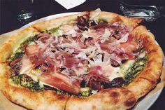 Taken from @kaliko_ on Instagram. #PizzaArtist #Pesto #PulledMozzarella #Mushrooms #IlBoschetto al #Tartufo #Prosciutto di #Parma
