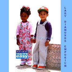 524 Butterick 6464 Childs Bib Overalls & Pullover by ladydiamond46