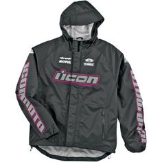 Icon Pdx Waterproof Shell Women's Jackets Street Motorcycle Rain Suit - Black/pink / X-large http://www.motorcyclegoods.com/14-best-waterproof-jackets-for-women/
