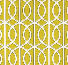 """""""Bella Porte, Citrine""""  56"""" wide 100% Cotton   Introducing Dwell Studio and their Eclectic Modern collection in beautiful 100% cotton prints."""