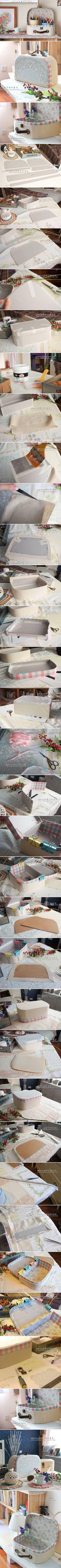 #decoración maleta DIY Retro Cosmetic Case
