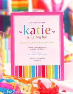 Lollipop Sweets Party Invitation #lollipop #partyinvitation