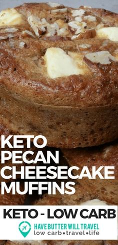 Keto Pecan Cheesecake Muffins🥐 Muffins are a great for when you need something quick for breakfast or a snack. Great to store in the freezer. These sweet keto pecan cheesecake muffins will also be popular with kids and the non keto family members. Desserts Keto, Keto Snacks, Keto Foods, Keto Sweet Snacks, Dessert Recipes, Dessert Ideas, Keto Cheesecake, Breakfast Cheesecake, Chocolate Cheesecake