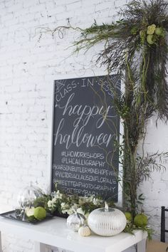 A Spooky Halloween Calligraphy Workshop | theglitterguide.com
