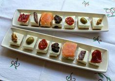 Montaditos de tarta de queso salada para #Mycook http://www.mycook.es/receta/montaditos-de-tarta-de-queso-salada/
