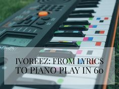Ivoreez helps you learn to play Free piano online with easy piano lessons & free sheet music. Sing Pop songs and play piano the easy way with song lyrics. Piano Tabs, Sabrina Claudio, Color Songs, Music Machine, Free Piano, Pot Lights, Education For All, Free Sheet Music, Easy Piano