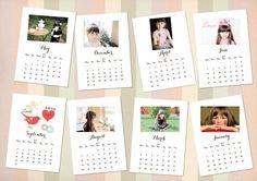 2014 Calendar templates Printable PSD PNG files by HOHOHOdesign, £3.00