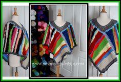Posh Pooch Designs Dog Clothes: Scrap Happy Poncho - Free Photo Tutorial and Crochet Pattern   Posh Pooch Designs