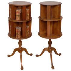 1stdibs | Pair of Mahogany Revolving Bookcases