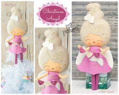 PDF.+Christmas+angel+doll.+Plush+Doll+Pattern+Softie+by+Noialand,+$7.00