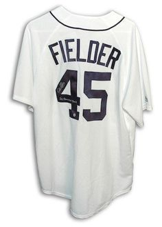 Autographed Cecil Fielder Detroit Tigers White Majestic Jersey Inscribed 2X Home Run Champ – Certified Authentic – Detroit Sports Outlet