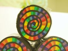 Rainbow Swirl Beaders Cane Polymer clay canes by WendiesWhims