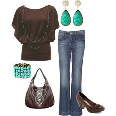 Brown and Blue!, created by kanani-wilson on Polyvore