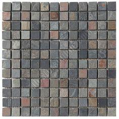 Slate Mosaic - 1 X 1 Multicolor Slate Mosaic - Tumbled