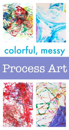 process art ideas - art projects for kids - messy art activities - sensory art activities for kids