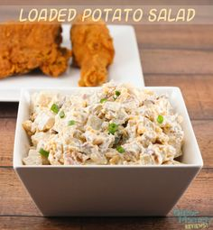 #AD Loaded Potato Salad is the perfect side dish to bring to picnics, barbecues and cookouts this Summer. It is filled with delicious bacon, cheddar cheese, sour cream and green onions. #SummerYum - Loaded Potato Salad Recipe on Gator Mommy Reviews