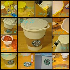 Giant Starbucks Cup Gift Basket