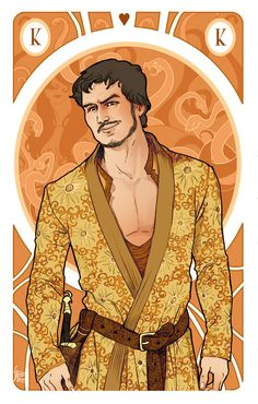 King of hearts | Oberyn MartellMy Game of Thrones card…King of hearts, VARIANT!Follow me on Facebook