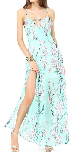 Mint Cherry Blossom Dress i loooove this! Pretty Outfits, Pretty Dresses, Beautiful Outfits, Cute Outfits, Beautiful Things, Cherry Blossom Dress, Cherry Blossoms, Casual Dresses, Maxi Dresses