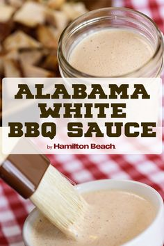 Expand your BBQ catalog this summer. Steer away from the tomato-based BBQ sauces you're used to try this Alabama white barbecue sauce. White Sauce Recipes, Barbecue Sauce Recipes, Barbeque Sauce, Grilling Recipes, Cooking Recipes, Bbq Sauces, Vegetarian Grilling, Hummus, Sauces