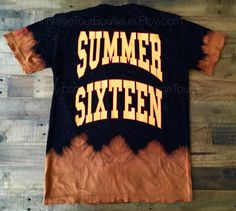 Drake Summer Sixteen Tour Revenge Tie Dye Bleached Tee  This Tee is Hand Bleached and features handmade grinded edges along the bottom hem, sleeves, and neck opening, for a light distressed look. Inspired by Drakes Summer Sixteen Revenge Tour  100% Ring Spun Pre-Shrunk Cotton - for a very soft and premium feel. This is not made on a standard Gildan Tee its on a very premium Tee Shirt that i guarantee you will love to wear. High quality print that will not crack!  Fan by Fan version - you…