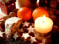 cake#orange#christmas#candle