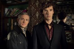 John & Sherlock, Season 3. With a wedding for John and Mary on the cards it looks like this happy couple will have to split up. | http://www.pinterest.com/aggiedem/sherlock-addict/