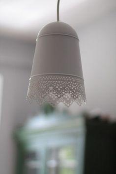 DIY IKEA lamp.