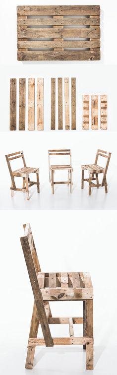 Chaises en bois de pallete