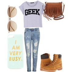 A fashion look from March 2015 featuring Timberland boots, Rebecca Minkoff shoulder bags and Witchery sunglasses. Browse and shop related looks.