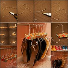 How to Make Flip Flops Hangers from Wire Coat Hangers | iCreativeIdeas.com Like Us on Facebook ==> https://www.facebook.com/icreativeideas