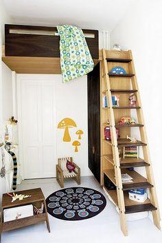 Ladder/shelf to bunkbed