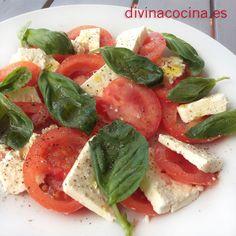 Ensalada Caprese » Divina CocinaRecetas fáciles, cocina andaluza y del mundo. » Divina Cocina