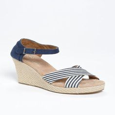 TOMS Women's Strappy Wedge Sandal University Sandal ** Find out more  details by clicking the