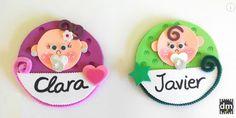 Distintivos de goma eva para baby shower | Manualidades para Baby Shower