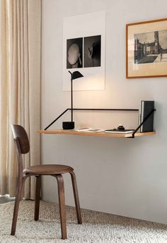 35 Admirable Minimalist Modern Furniture Design Ideas - Modern minimalist décor is very powerful when it is handled correctly. Contrary to what many think, this interior design style is not about leaving sp. Office Furniture Design, Home Office Design, Home Office Decor, Small Furniture, Home Office Table, Modern Wood Furniture, Minimalist Desk, Minimalist Furniture, Decoration Ikea