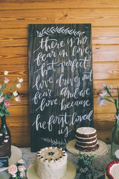 Wildwood Paper Co. // Anna + Will // Custom wedding signage