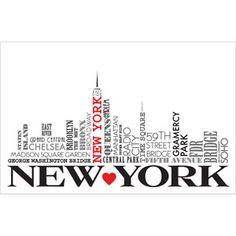 "New York 22.375"" x 34"" Poster Print"