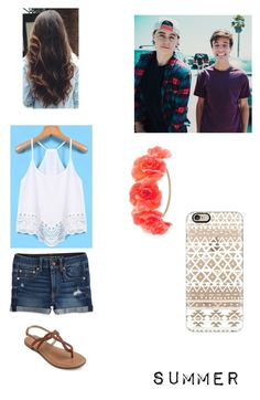 """Summer memories w/ Nash & Cam"" by katypena ❤ liked on Polyvore featuring American Eagle Outfitters, Charlotte Russe, Casetify, InternationalFangirlDay, cash, summer2015, CameronDallas and nashgrier"