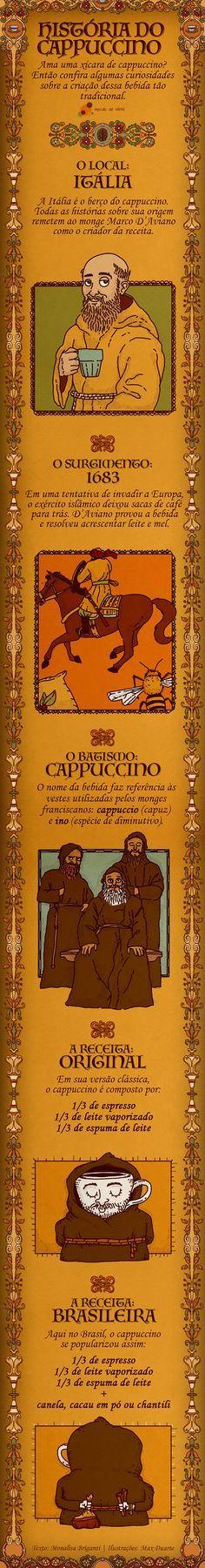 Você conhece a história do cappuccino? Veja quais são as origens dessa deliciosa receita em um infográfico especial.