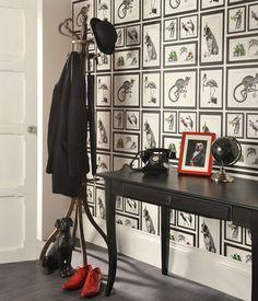 Pour un bureau style anglais ou une entrée Maleme   Papier peint nouveauté   Motifs du papier peint   Papier peint des années 70