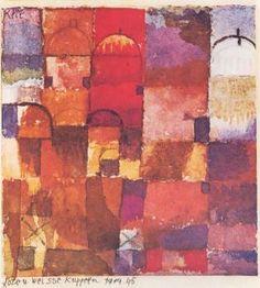 Rote und weisse Kuppeln - Paul Klee - The Athenaeum
