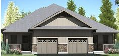 The Wyatt/ The Whitmore Type:2 Bedroom Semi-Detached Bungalow, 1-Car Garage Size: 1,210 sq. ft.