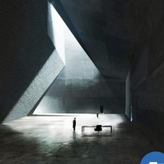 The hall of Wallace's office in Blade Runner concept art based on a design by Estudio Barozzi Veiga for the unbuilt Neanderthal Museum in Piloña, Spain, Peter Popken, 2016 Concept Architecture, Futuristic Architecture, Interior Architecture, Interior And Exterior, Blade Runner Art, Blade Runner 2049, Arte Sci Fi, Light And Space, Art Base