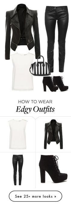 """Edgy chic"" by arelson on Polyvore featuring Finders Keepers, Balenciaga and Givenchy"