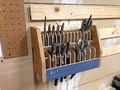 Stellar pliers rack for french cleats